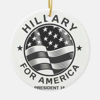 Hillary Clinton 16 Round Ceramic Ornament