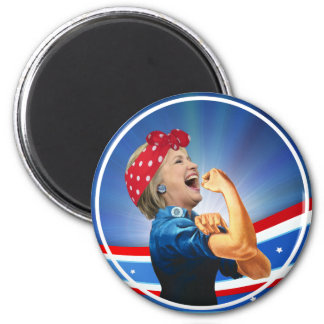 Hillary Clinton 1st Woman Presidential Nominee 2 Inch Round Magnet