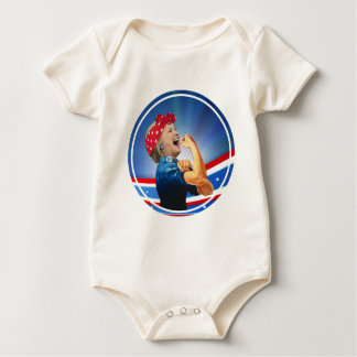 Hillary Clinton 1st Woman Presidential Nominee Baby Bodysuit