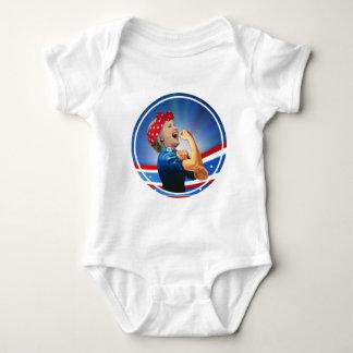 Hillary Clinton 1st Woman Presidential Nominee Baby Bodysuit