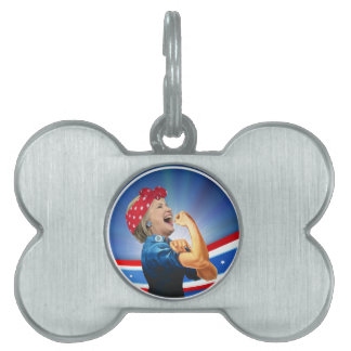 Hillary Clinton 1st Woman Presidential Nominee Pet Tags