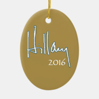 Hillary Clinton 2016 Ceramic Oval Ornament