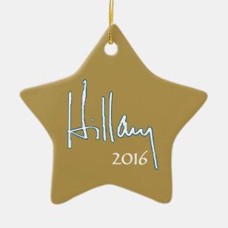 Hillary Clinton 2016 Ceramic Star Ornament