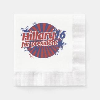 Hillary Clinton 2016 Disposable Napkins