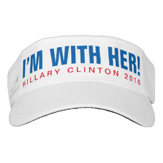 "Hillary Clinton 2016 ""I'M WITH HER!"" Visor"