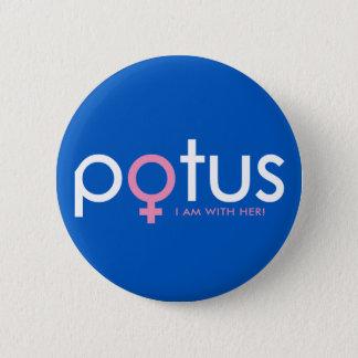 Hillary Clinton 2016 - POTUS #iamwither 2 Inch Round Button