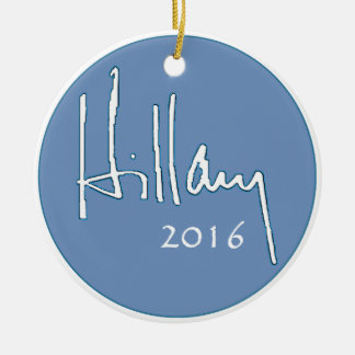 Hillary Clinton 2016 Round Ceramic Ornament