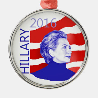 Hillary Clinton 2016 Silver-Colored Round Ornament