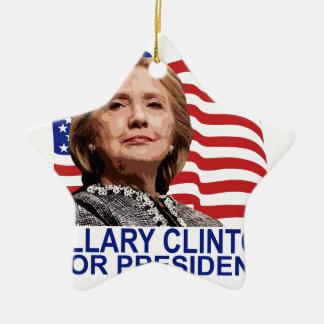 HILLARY CLINTON 2016 Tshirts ;'.png Ceramic Star Ornament