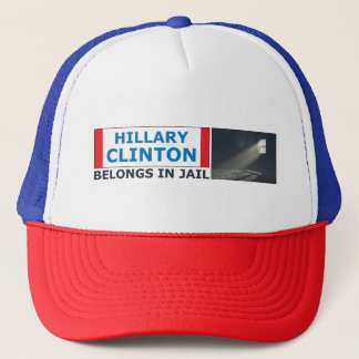 Hillary Clinton Belongs In Jail Trucker Hat
