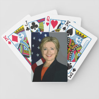 hillary clinton bicycle playing cards