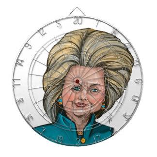 Hillary Clinton Caricature Dartboard