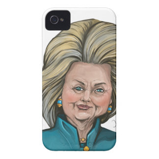 Hillary Clinton Caricature iPhone 4 Case-Mate Case