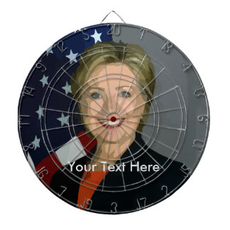 Hillary Clinton Custom Metal Cage Dartboard