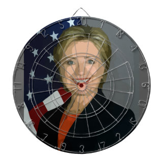 hillary clinton dartboard