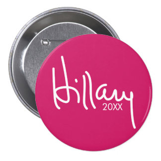 Hillary Clinton Designer Campaign Gear 3 Inch Round Button