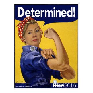 Hillary Clinton Determined! Postcard