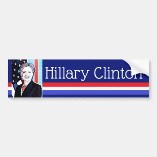 Hillary Clinton Digital Art Bumper Sticker
