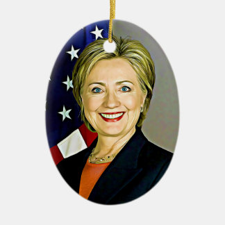 Hillary Clinton Digital Pop Art Christmas Ornament
