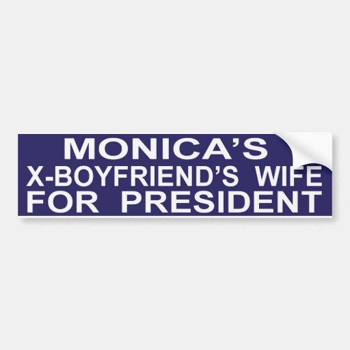 Hillary Clinton drôle pour le Président Sticker Autocollant Pour Voiture