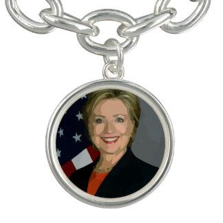 Hillary Clinton Election 2016 Bracelet, Plated Charm Bracelets