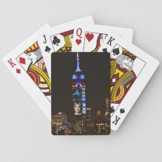 Hillary Clinton Election Night Empire State Bldg Poker Deck