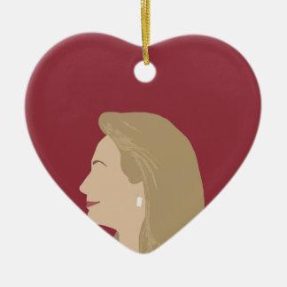 Hillary Clinton Feminist Ceramic Ornament