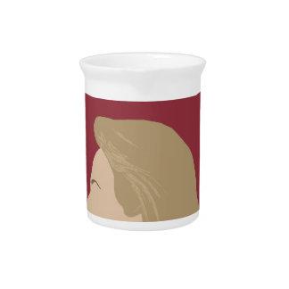 Hillary Clinton Feminist Drink Pitcher
