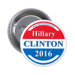 Hillary Clinton for President 2016 2 Inch Round Button