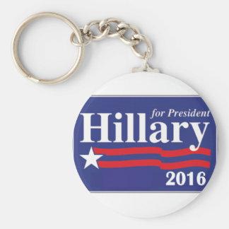 Hillary Clinton for President 2016 Basic Round Button Keychain