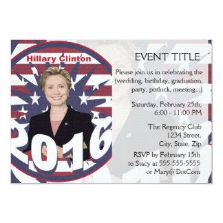 Hillary Clinton for President 2016 Card
