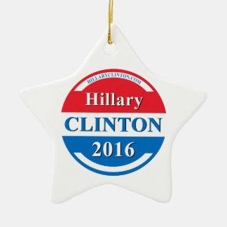 Hillary Clinton for President 2016 Ceramic Star Ornament