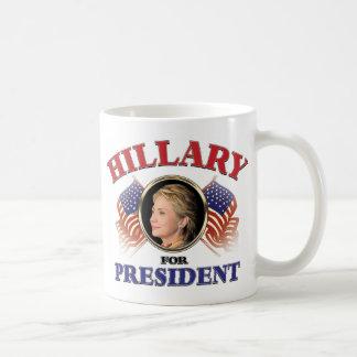 Hillary Clinton For President 2016 Classic White Coffee Mug