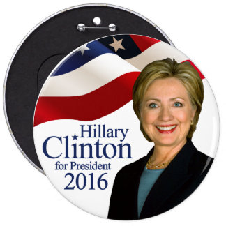 Hillary Clinton for President 2016 Jumbo Button