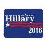 Hillary Clinton For President 2016 Premium Magnet