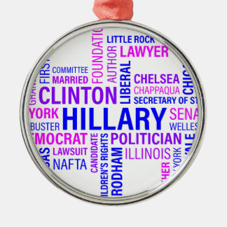 Hillary Clinton for President Silver-Colored Round Ornament
