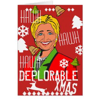 Hillary Clinton Hawh Hawh Deplorable Xmas card