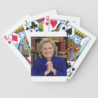 Hillary Clinton It Takes A Village Gift Bicycle Playing Cards