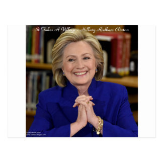 Hillary Clinton It Takes A Village Gift Postcard
