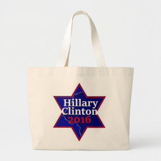 Hillary CLINTON Jewish 2016 Large Tote Bag