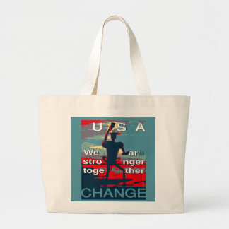 Hillary Clinton latest campaign slogan for 2016 Large Tote Bag