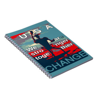 Hillary Clinton latest campaign slogan for 2016 Spiral Notebooks