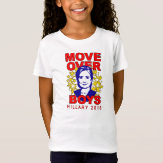 "Hillary Clinton ""Move Over Boys"" Girl's Babydoll T-Shirt"