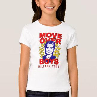 "Hillary Clinton ""Move Over Boys"" Girl's Babydoll Tee Shirt"