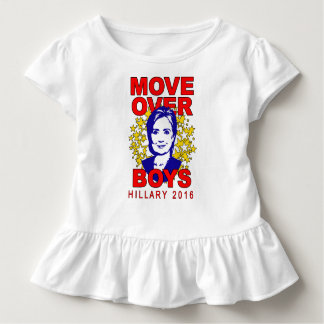 Hillary Clinton Move Over Boys Toddler Ruffle Tee