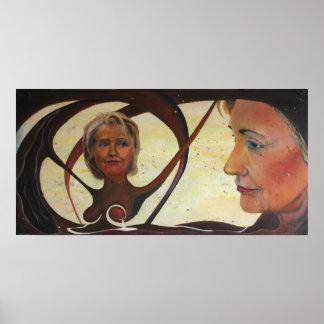 Hillary Clinton Oil Painting by Luke Taft print