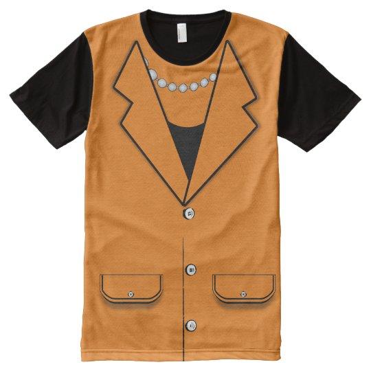 Hillary Clinton Pantsuit Costume (Orange) All-Over-Print T-Shirt