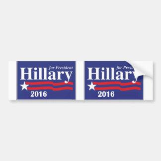 Hillary Clinton pour le président 2016 - 2 dans 1 Autocollant De Voiture