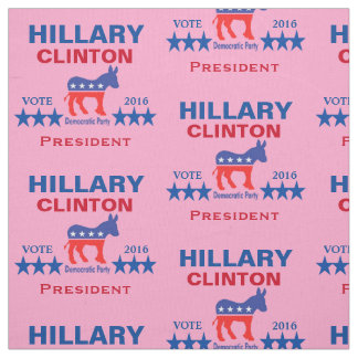 Hillary Clinton President 2016 Pink Fabric