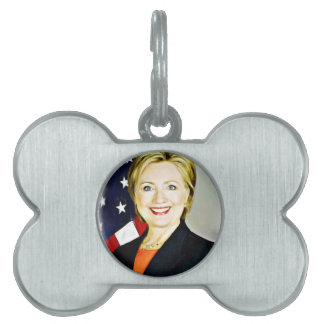 Hillary Clinton-President of USA_ Pet Name Tags